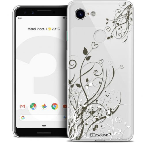 "Extra Slim Crystal Gel Google Pixel 3 (5.5"") Case Love Hearts Flowers"