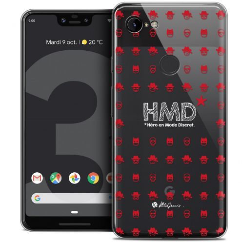 "Extra Slim Crystal Gel Google Pixel 3 XL (6.3"") Case Petits Grains® HMD* Hero en Mode Discret"