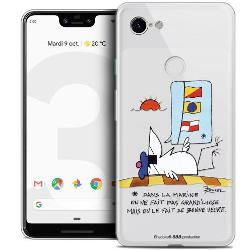 "Extra Slim Crystal Gel Google Pixel 3 XL (6.3"") Case Les Shadoks® La Marine"