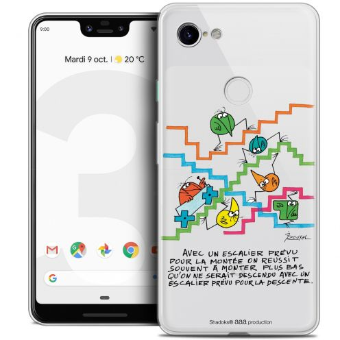"Extra Slim Crystal Gel Google Pixel 3 XL (6.3"") Case Les Shadoks® L'escalier"