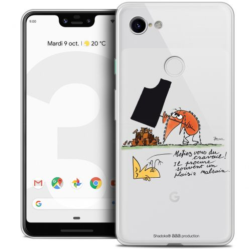 "Extra Slim Crystal Gel Google Pixel 3 XL (6.3"") Case Les Shadoks® Le Travail"