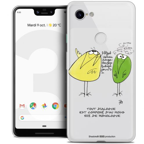 "Extra Slim Crystal Gel Google Pixel 3 XL (6.3"") Case Les Shadoks® Le Dialogue"