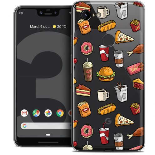 "Extra Slim Crystal Gel Google Pixel 3 XL (6.3"") Case Foodie Fast Food"