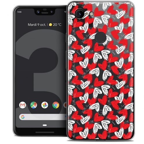 "Extra Slim Crystal Gel Google Pixel 3 XL (6.3"") Case Love With Love"