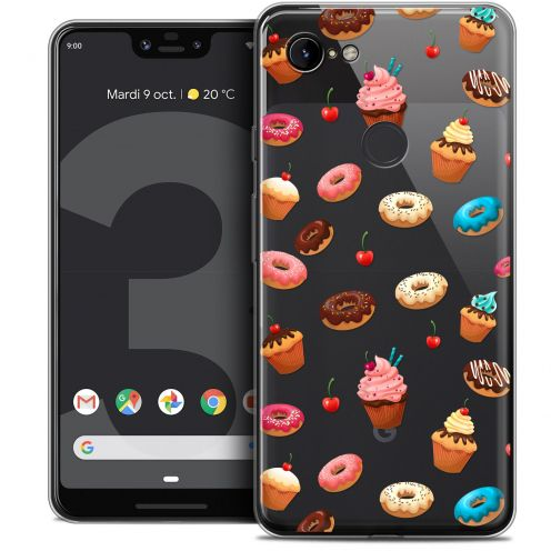 "Extra Slim Crystal Gel Google Pixel 3 XL (6.3"") Case Foodie Donuts"
