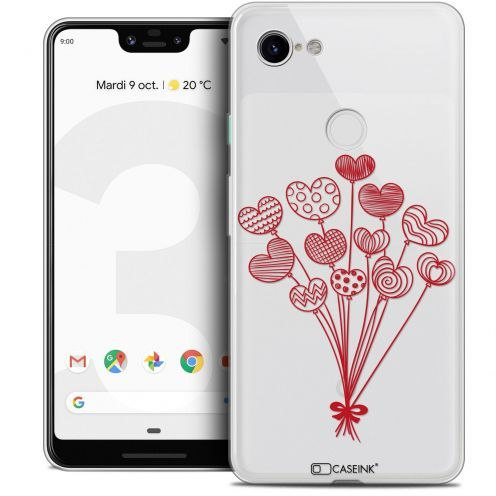 "Extra Slim Crystal Gel Google Pixel 3 XL (6.3"") Case Love Ballons d'amour"