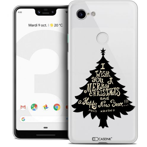 "Extra Slim Crystal Gel Google Pixel 3 XL (6.3"") Case Noël 2017 XOXO Tree"
