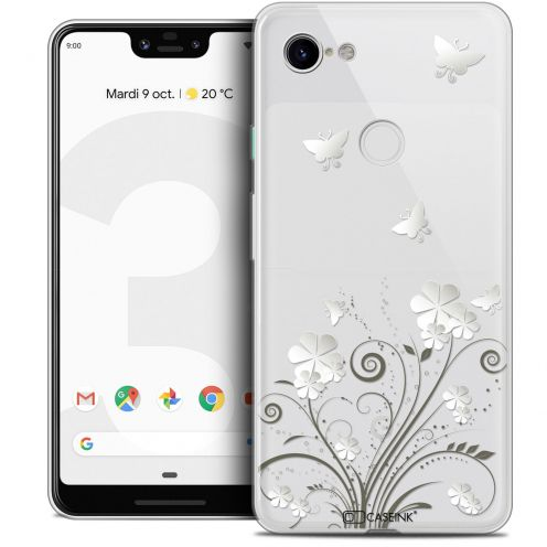 "Extra Slim Crystal Gel Google Pixel 3 XL (6.3"") Case Summer Papillons"