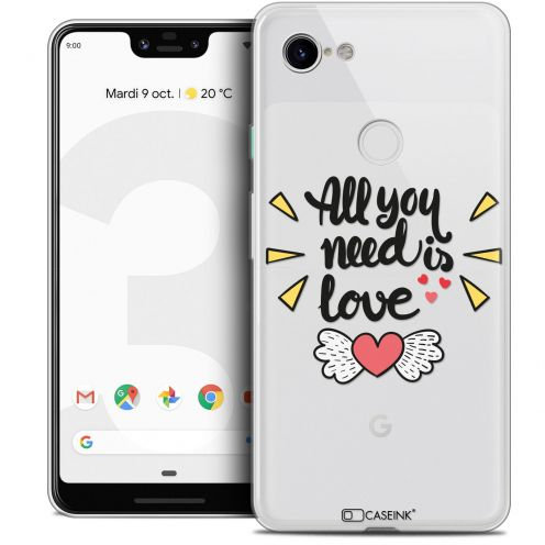 "Extra Slim Crystal Gel Google Pixel 3 XL (6.3"") Case Love All U Need Is"