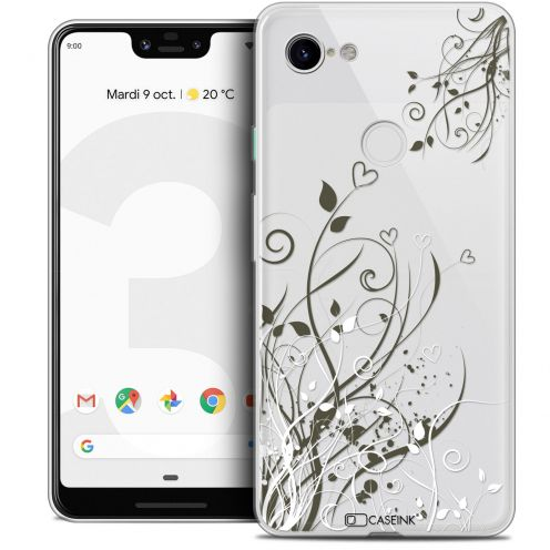 "Extra Slim Crystal Gel Google Pixel 3 XL (6.3"") Case Love Hearts Flowers"