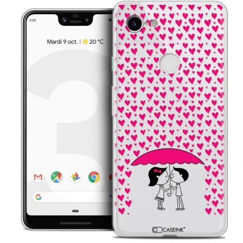 "Extra Slim Crystal Gel Google Pixel 3 XL (6.3"") Case Love Pluie d'Amour"