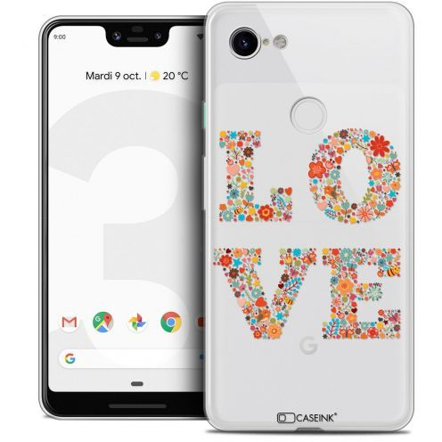 "Extra Slim Crystal Gel Google Pixel 3 XL (6.3"") Case Summer Love Flowers"