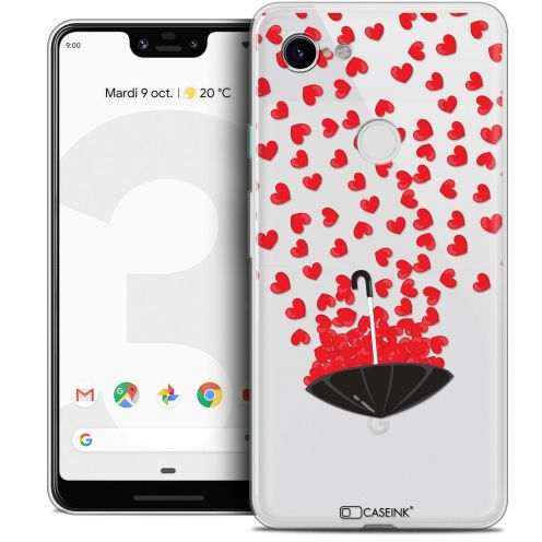 "Extra Slim Crystal Gel Google Pixel 3 XL (6.3"") Case Love Parapluie d'Amour"