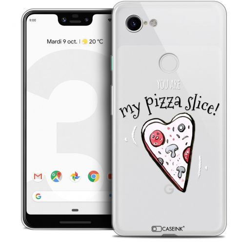 "Extra Slim Crystal Gel Google Pixel 3 XL (6.3"") Case Love My Pizza Slice"