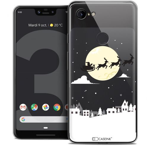 "Extra Slim Crystal Gel Google Pixel 3 XL (6.3"") Case Noël 2017 Flying Stanta"