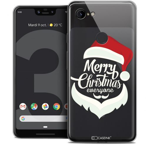 "Extra Slim Crystal Gel Google Pixel 3 XL (6.3"") Case Noël 2017 Merry Everyone"