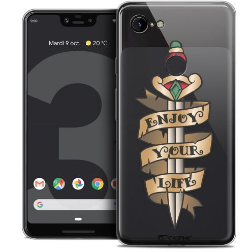 "Extra Slim Crystal Gel Google Pixel 3 XL (6.3"") Case Tatoo Lover Enjoy Life"
