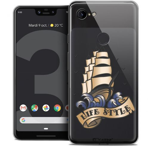 "Extra Slim Crystal Gel Google Pixel 3 XL (6.3"") Case Tatoo Lover Life Style"