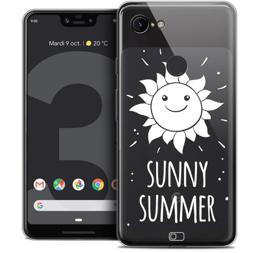 "Extra Slim Crystal Gel Google Pixel 3 XL (6.3"") Case Summer Sunny Summer"