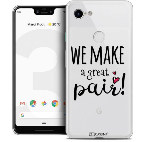 "Extra Slim Crystal Gel Google Pixel 3 XL (6.3"") Case Love We Make Great Pair"