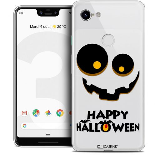 "Extra Slim Crystal Gel Google Pixel 3 XL (6.3"") Case Halloween Happy"