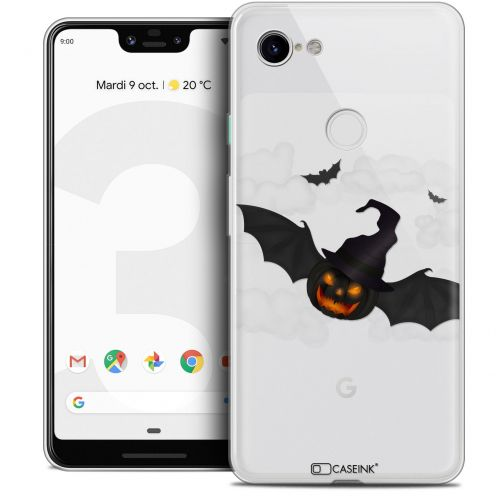 "Extra Slim Crystal Gel Google Pixel 3 XL (6.3"") Case Halloween Chauve Citrouille"
