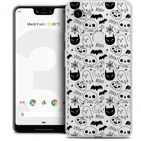 "Extra Slim Crystal Gel Google Pixel 3 XL (6.3"") Case Halloween Spooky"