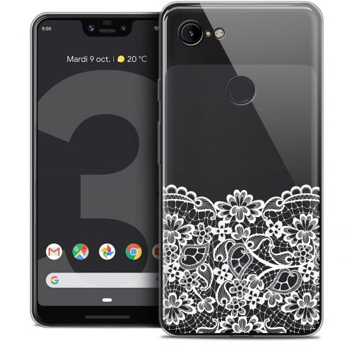 "Extra Slim Crystal Gel Google Pixel 3 XL (6.3"") Case Spring Bas dentelle"