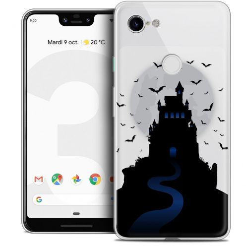 "Extra Slim Crystal Gel Google Pixel 3 XL (6.3"") Case Halloween Castle Nightmare"