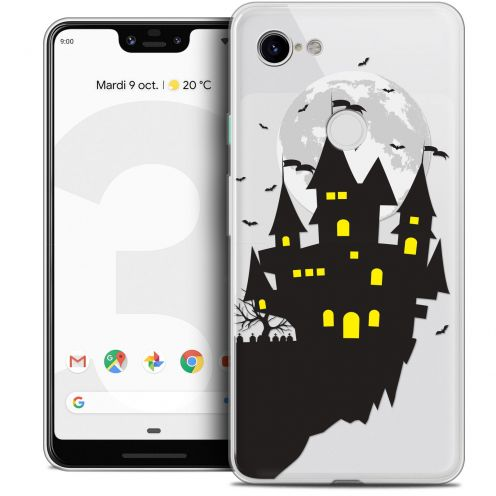 "Extra Slim Crystal Gel Google Pixel 3 XL (6.3"") Case Halloween Castle Dream"