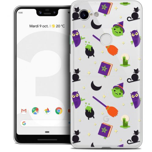 "Extra Slim Crystal Gel Google Pixel 3 XL (6.3"") Case Halloween Witch Potter"