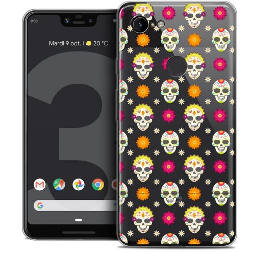 "Extra Slim Crystal Gel Google Pixel 3 XL (6.3"") Case Halloween Skull Halloween"