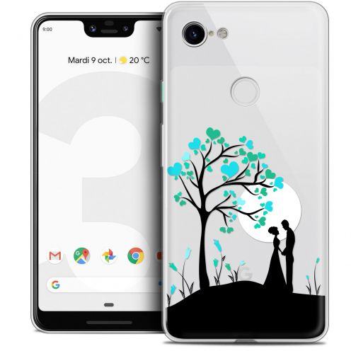"Extra Slim Crystal Gel Google Pixel 3 XL (6.3"") Case Love Sous l'arbre"