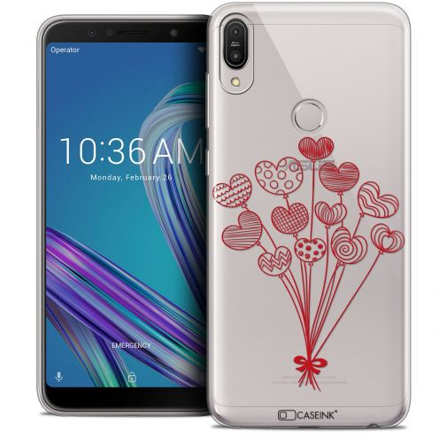 """Extra Slim Crystal Gel Asus Zenfone Max Pro (M1) ZB601KL (6"""") Case Love Ballons d'amour"""