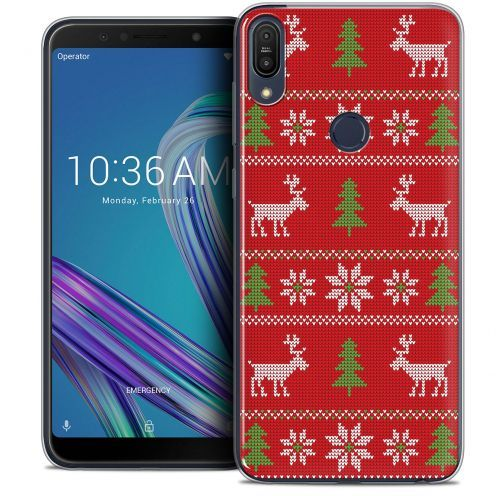 """Extra Slim Crystal Gel Asus Zenfone Max Pro (M1) ZB601KL (6"""") Case Noël 2017 Couture Rouge"""
