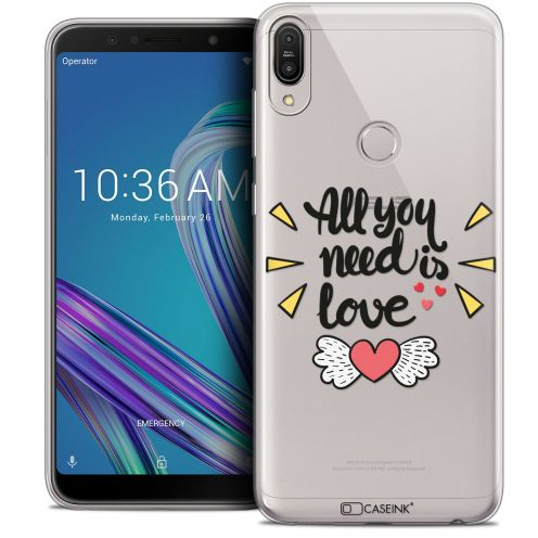 """Extra Slim Crystal Gel Asus Zenfone Max Pro (M1) ZB601KL (6"""") Case Love All U Need Is"""
