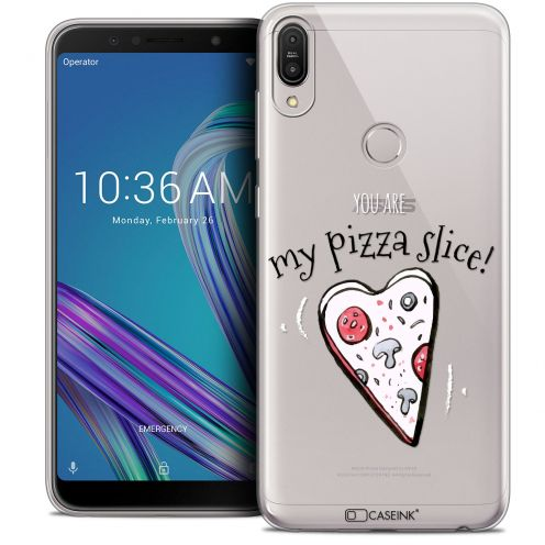 "Extra Slim Crystal Gel Asus Zenfone Max Pro (M1) ZB601KL (6"") Case Love My Pizza Slice"
