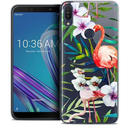 "Extra Slim Crystal Gel Asus Zenfone Max Pro (M1) ZB601KL (6"") Case Watercolor Tropical Flamingo"