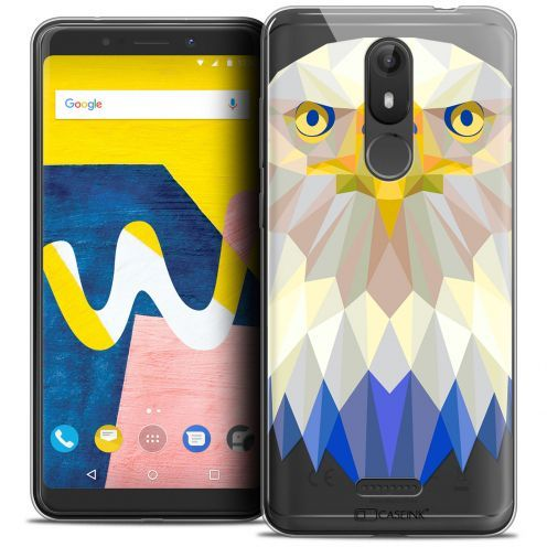 "Extra Slim Crystal Gel Wiko View LITE (5.45"") Case Polygon Animals Eagle"