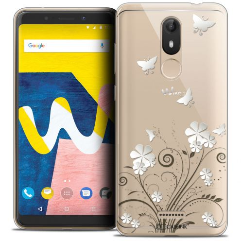 """Extra Slim Crystal Gel Wiko View LITE (5.45"""") Case Summer Papillons"""