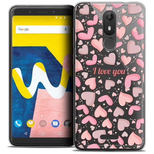 """Extra Slim Crystal Gel Wiko View LITE (5.45"""") Case Love I Love You"""