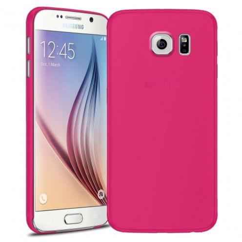 Ultra thin Case 0.3 mm Frost for Samsung Galaxy S6 Fuchsia