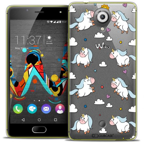 "Extra Slim Crystal Gel Wiko U Feel (5"") Case Fantasia Licorne In the Sky"