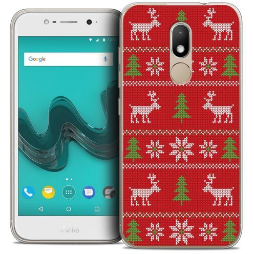 """Extra Slim Crystal Gel Wiko Wim LITE (5.0"""") Case Noël 2017 Couture Rouge"""