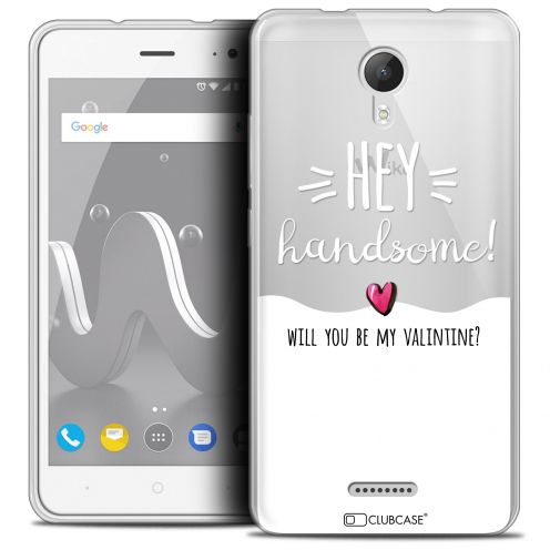 "Extra Slim Crystal Gel Wiko Jerry 2 (5"") Case Love Hey Handsome !"