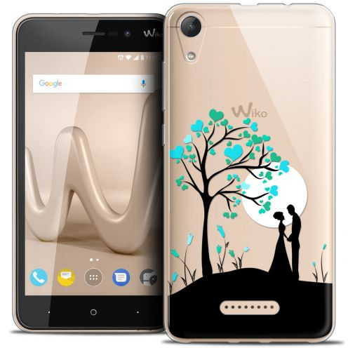 "Extra Slim Crystal Gel Wiko Lenny 4 (5"") Case Love Sous l'arbre"