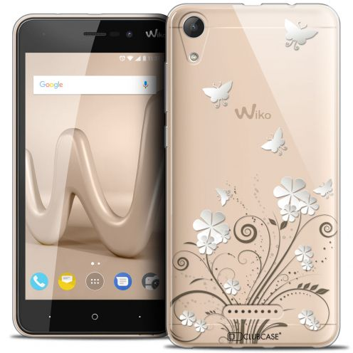 """Extra Slim Crystal Gel Wiko Lenny 4 (5"""") Case Summer Papillons"""