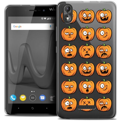 "Extra Slim Crystal Gel Wiko Lenny 4 PLUS (5.5"") Case Halloween Cartoon Citrouille"