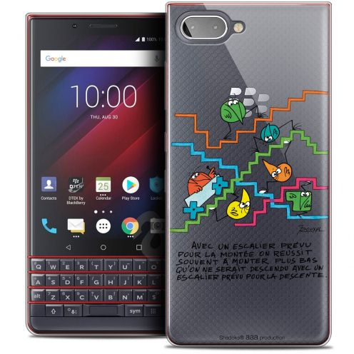 "Extra Slim Crystal Gel BlackBerry Key2 LE (4.5"") Case Les Shadoks® L'escalier"
