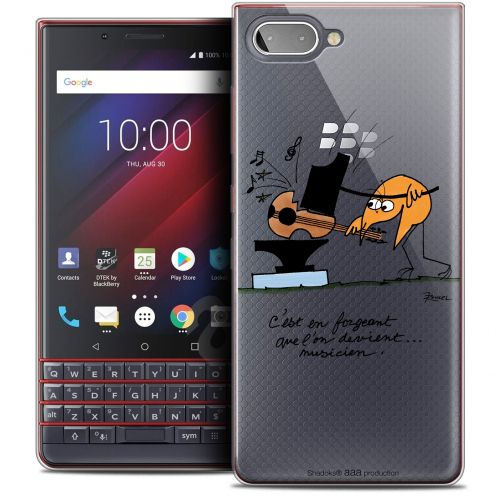"Extra Slim Crystal Gel BlackBerry Key2 LE (4.5"") Case Les Shadoks® Musicien"